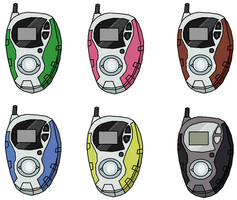 Digimon Adventure 02 Digivices by Speedythehedgehog1