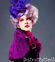Effie Trinket, The Woman In Purple by DistrictPotter13