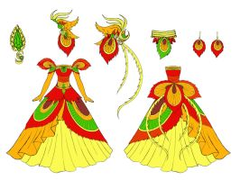 phoenix dress design by Eranthe