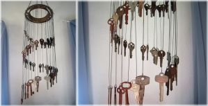 Key Chime Windchime by Llyzabeth