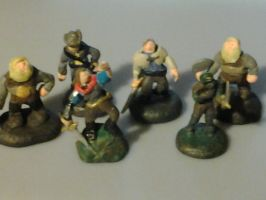 Some DnD miniatures by animus1986