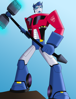 BG: Optimus Prime by SweetDream87
