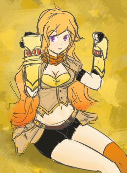 Rwby-Yang Xiao Long by VeryBusy