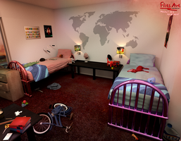 Children's Room (Clue #4) - Project Red Apartment by FlitsArt
