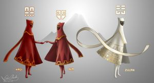 Journey Original Characters by Sawuinhaff