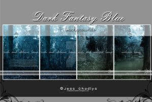 Dark Fantasy Blue Background by chadlystock
