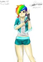 Rainbowdash humanizada by geon2510
