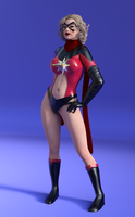 Ms. Marvel - 70's by bigcurf