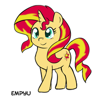 Pony Sunset Shimmer - 30MC by Empyu