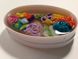 Miniature Polymer Clay Coral Reef Aquarium with Fi by amykristin75