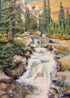 ACEO Waterfall #2 by annieoakley64