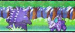 Nidorino vs. Gengar Graph Paper Screen by dragontamer272