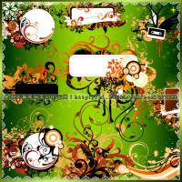floral frame brushes3 by coolwing