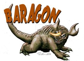 Baragon isolated by Fourgreen