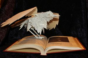 Edgar Allen Poe Book Sculpture by wetcanvas