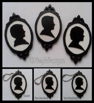 Supernatural Silhouette Keychains by DoyleDesigns