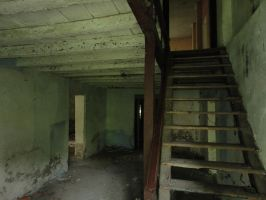 Abandoned room with stairs by Simbores