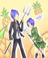 Mukuro and Chrome by Pixiescout