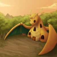 +PMD Concept art: Dragonite Guild+ by min-mew