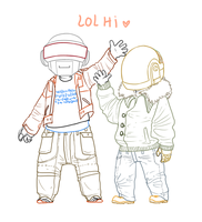 More Daft Chibis by CanecaDePapel