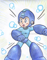 megaman. by Nintendrawer