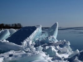 Ice build up on Bright Beach by Nipntuck3