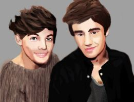 Louis Tomlinson and Liam Payne by pwanza