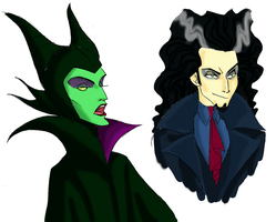 Fausto and Maleficent. Edit by DemonCartoonist