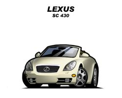 Chibi Lexus SC430 by CGVickers