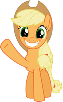Smile And Wave - Applejack by TomFraggle