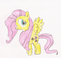 Fluttershy Drawing (Redraw) by SoraRoyals77