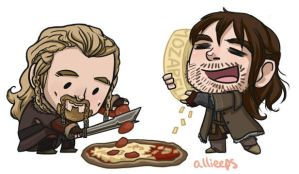 Kili and Fili Magnets by perishing-twinkie