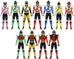 Power Rangers Samurai Super Mega Mode by Taiko554