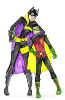 Batgirl and Robin by Tapaidh