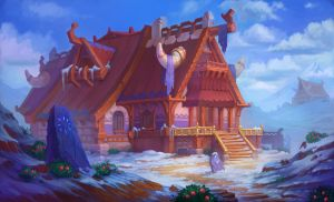 Viking house by lepyoshka
