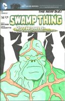 Swamp Thing Sketch Cover by FletchBoogie