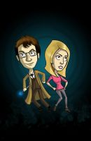 Dr.Who: 10th and Rose Tyler by Comedic44