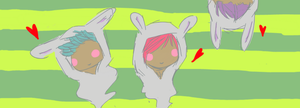 Three Cute Bunnies by chocolatyme