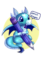 Pencil Dragon [Request] by fuwante-chan