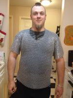finished chainmail shirt close by BlackhandCustoms