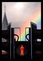 Stop, a rainbow by Cailla