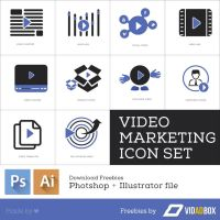Video Marketing Icons by eEl886