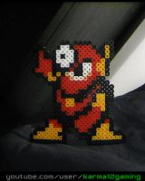 Megaman 2 - Metalman [Perler Art] by karma12gaming