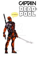 Deadpool Pin-Up 2016 Color by akmeto