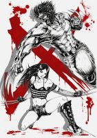 Wolverine and X-23 [Add Background] by HungDK