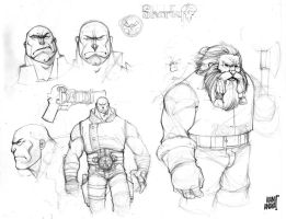 Skullkikers Sketches by biroons