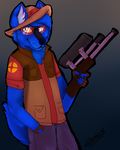 :Fan-Art:Damfurrywolf as sniper by goldypirate
