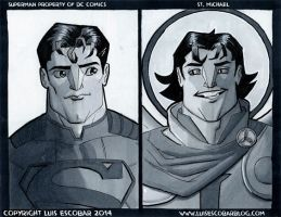 Superman and St. Michael the Archangel by LuisEscobar