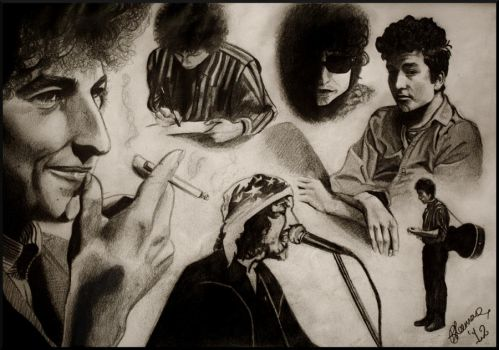 Bob Dylan Sketches by Bonniemarie