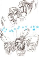 Jetfire, Starscream, an femmes by LagunaL8